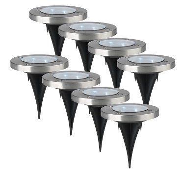 easymaxx Solar Bodenleuchten im 8er Set für 39,99€