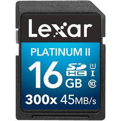 LEXAR Platinum II SDHC Class 10 und 16 GB für 5€