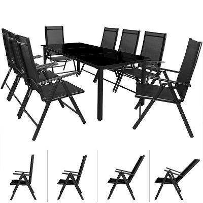 Deuba Sitzgruppe 8+1 aus Aluminium für 254,96€ (statt 330€)