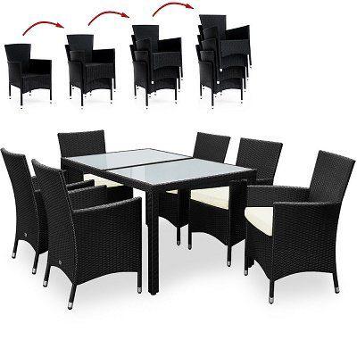 13 teilige Polyrattan Sitzgruppe für 271,96€ (statt 360€)