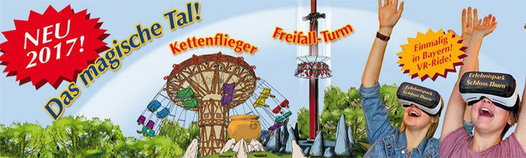 Eintritt in Erlebnispark Schloss Thurn inkl. ÜN in Nürnberg mit Frühstück & Wellness (2 Kinder mgl.) ab 69€ p.P.