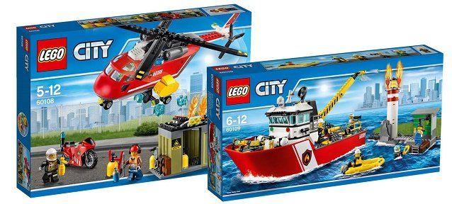 LEGO City Set Feuerwehrschiff 60109 & Feuerwehr Löscheinheit 60108 für 56,54€ (statt 71€)