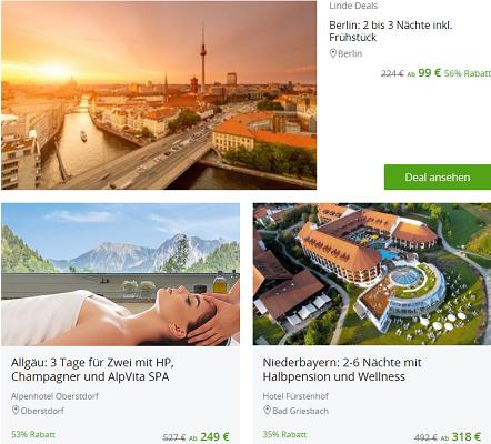 Groupon mit 15% Rabatt auf ausgewählte Reise Gutscheine
