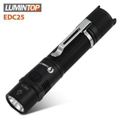 LUMINTOP EDC25   LED Taschenlampe mit 34h Betriebszeit & 6 Modi für ~17,42€ (statt 60€)