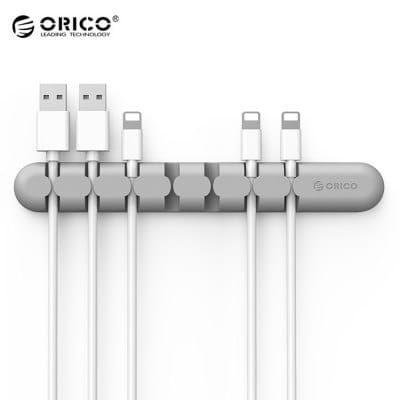 ORICO CBS7 Kabel Organizer aus Silikon in grau für 1,25€