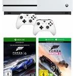 Xbox One S (500 GB)  + 2. Controller + Forza Horizon 3 + Forza 6 für 265,99€ (statt 316€)