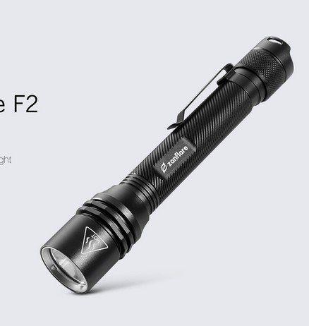 zanflare F2 LED Taschenlampe mit 4 Modi für 8,62€