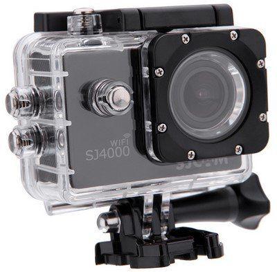 SJCAM SJ4000 WiFi   Actioncam (1080P, 170° HD Weitwinkel Fischauge) inkl. Zubehör für ~36€ (statt 73€)