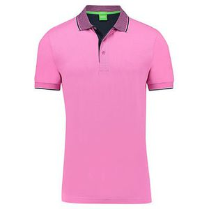 BOSS GREEN Herren Poloshirt Paddos Regular Fit Kurzarm Lila für 39,92€ (statt 50€)