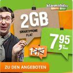 Top! Telekom Netz: 100 Minuten in alle de Netze + 2GB Datenflat bis zu 42.2Mbit/s für nur 7,95€ mtl.