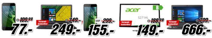 Media Markt Acer Tiefpreisspätschicht   z. B. ACER Liquid Z6 Plus 32 GB Smartphone für 155€