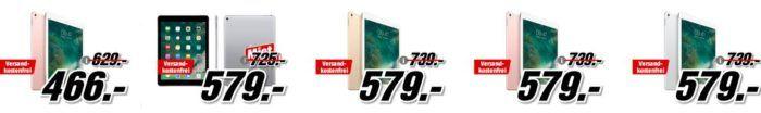 Media Markt: Apple iPad Sale   z.B. Apple iPad Pro WiFi 128 GB für 579€