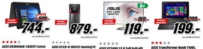 Media Markt ASUS Tiefpreisspätschicht   günstige Notebooks, Convertible, Gaming PC und Monitore   TOP