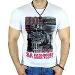 Avroni Herren rundhals T-Shirts mit Motiven Strass für je 9,99€