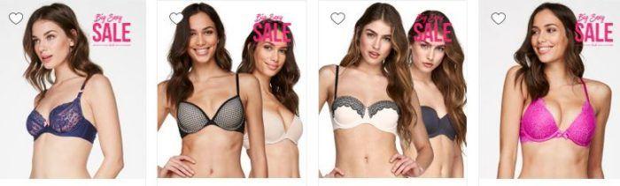 Big Sexy Sale mit bis zu 70% Rabatt + 2 Slips für 6€ +  BHs ab 10€