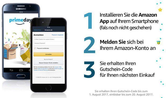 Amazon App installieren und 6€ Amazon Gutschein gratis bekommen   nur Prime Erstanmelder!