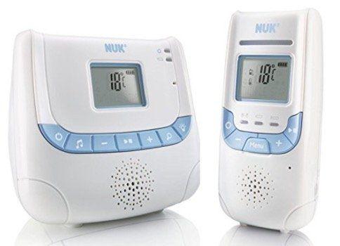 Ausverkauft! NUK Babyphone Eco Control+ DECT 267 mit Eco Mode, Nachtlicht und Schlafliedfunktion für 35€ (statt 85€)