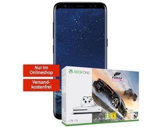 Samsung Galaxy S8 + Xbox One S 1TB mit Forza Horizon 3 für 99€ + Vodafone Flat mit 2GB für 29,99€ mtl.
