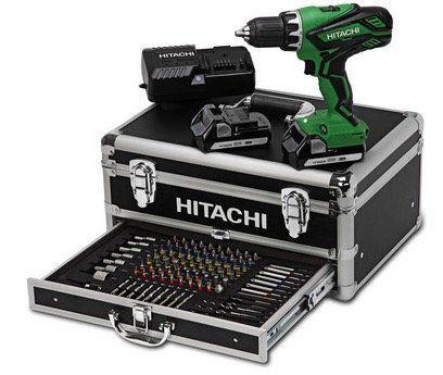 Hitachi DS18DJL 18V Akku Bohrschrauber + 2 x 1,5Ah + Koffer + 100 tlg. Zubehör nur 135,90€ (statt 170€)