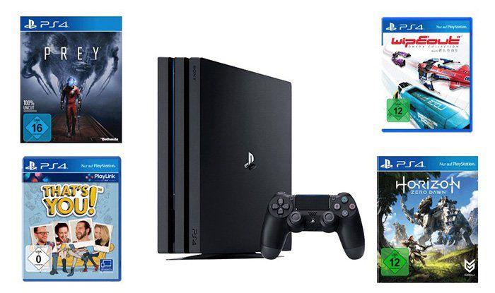 Playstation 4 Pro 1TB + 4 Spiele für 399€ (statt 472€)