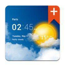 Transparent Clock & Wetter Pro (Android) für nur 0,10€ (statt 3€)