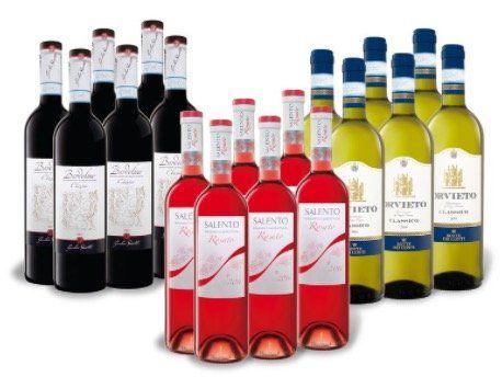 LIDL Weinpaket Italiens Lieblinge mit 18 Flaschen für 30,18€