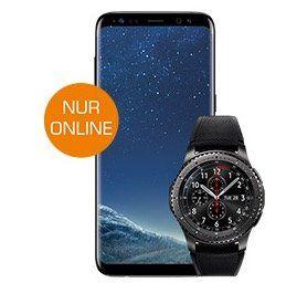 Samsung Galaxy S8 + Samsung Gear S3 Smartwatch für 99€ + Telekom Flat mit 2GB für 31,99€ mtl.
