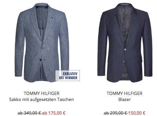 Tommy Hilfiger Sakkos oder Blazer ab 140€ (statt 200€) im Hirmer Männer Schlussverkauf