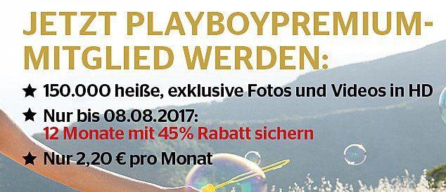 12 Monate Playboy Premium für 26,40€ (statt 48€)