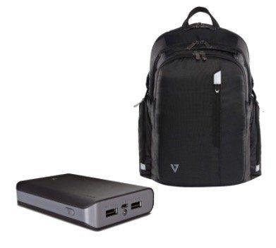 V7 Elite Rucksack 15,6 Zoll + V7 Powerbank mit 10.000mAh für 22,98€ (statt 50€)