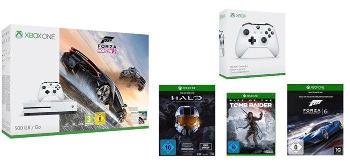 Xbox One S 500GB inkl. 7 Spiele + 2. Controller für 283,99€ (statt 340€)