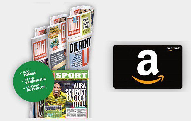 12 Wochen BILD am Sonntag für 23,40€ + 20€ Amazon Gutschein & 5€ Rabatt