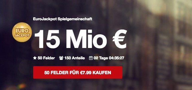 2 Tippfelder Eurojackpot (15 Mio.) + 80 Rubbellose (!) für nur 4,99€   nur Neukunden