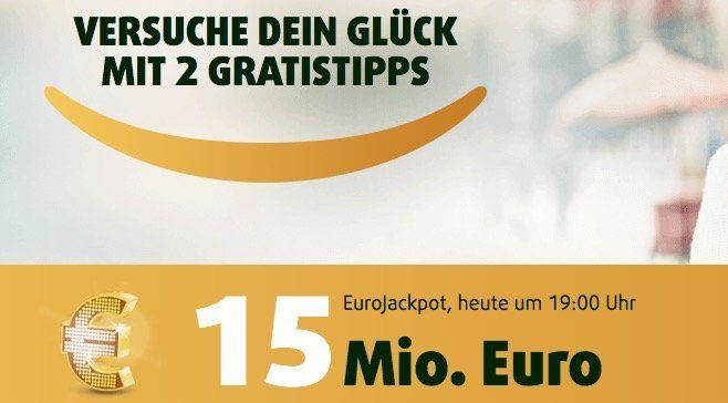 6 Tippfelder EuroJackpot (15 Mio. Jackpot) + 5 Rubbellose für 2,99€ (statt 13,75€)