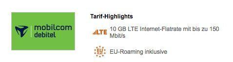 10GB Telekom LTE Datenflat für 11,99€/Monat oder 4GB für 7,99€ mtl.