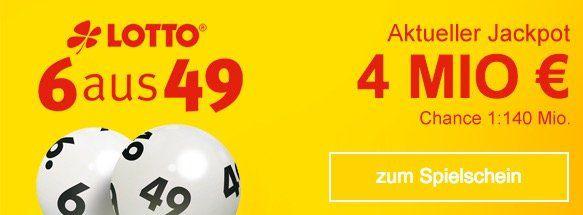 Lottobay 5€ Gutschein mit nur 5€ MBW   Lotto für 0,35€ spielen (4 Mio. Jackpot!)