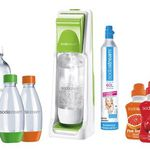 Sodastream Cool – grauer Wasserspender mit 4 Flaschen und Sirup für 42€ (statt 54€)