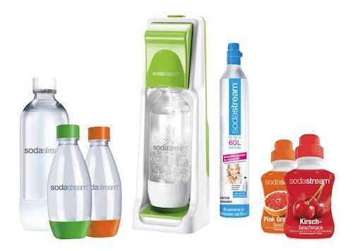 Sodastream Cool   grauer Wasserspender mit 4 Flaschen und Sirup für 42€ (statt 54€)