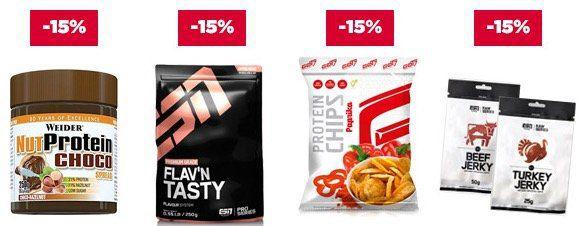 20% auf ESN Whey Proteine oder 15% auf Low Carb bei fitmart