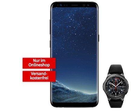 Samsung Galaxy S8 + Samsung Gear S3 Smartwatch für 1€ + Telekom Flat mit 2GB für 31,99€ mtl.