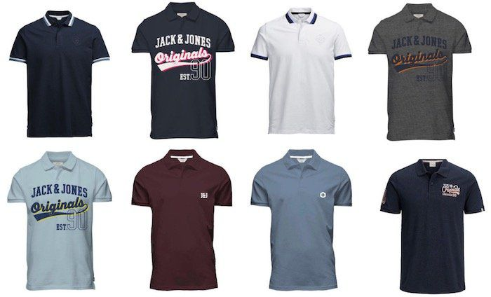 Jack & Jones Herren Poloshirts für je nur 17,99€