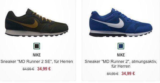 Nike MD Runner 2 Sneaker ab 34,99€ (statt 42€)   Kinder nur 24,49€