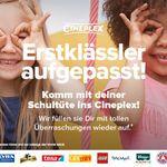 Kostenlose Füllung der Schultüte für Erstklässler in allen teilnehmenden Cineplex Kinos