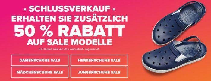 Crocs Sommer Schluss Verkauf mit bis 50% Rabatt auf ausgewählte Modelle   günstige Sandalen, Flips & Co.
