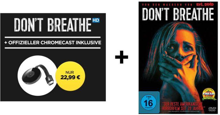 Google Chromecast 2 + HD Stream:  Don't Breathe für nur 22,99€