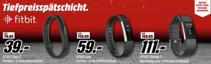 Media Markt FitBit Tiefpreisspätschicht   z. B. FitBit Alta  Activity Tracker für 59€