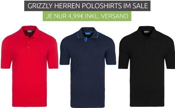 GRIZZLY Tucson Herren Polo Shirts für je nur 4,99€ (statt 20€)   nur Restgrößen!