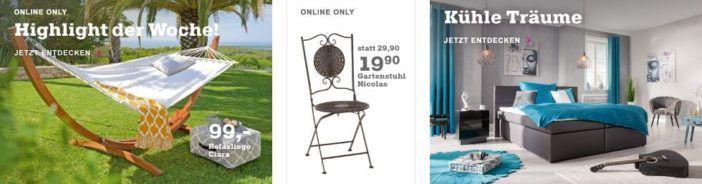 Mömax 50€ Gutschein auch für den Sale ab 150€ MBW   z.B.  Sonneninsel Maxine ab 149€