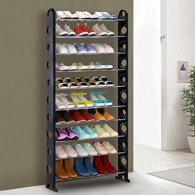 iKayaa Schuhschrank mit 10 Ebenen für bis zu 40 Paar Schuhe für ~13,95€