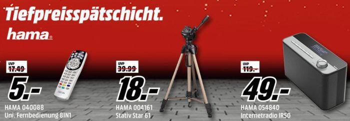 Media Markt HAMA Tiefpreisspätschicht   Internet Radio IR50 für nur 49€  und mehr Angebote